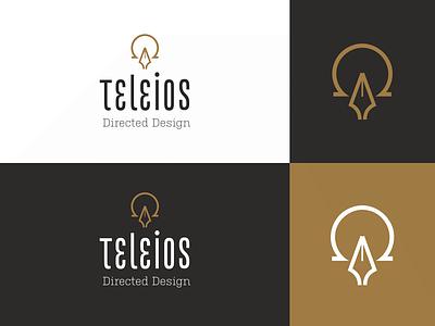 Teleios Design Branding icon pen omega alpha greek design symbolism logo branding