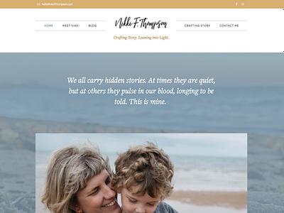 nikkifthompson.com home page typography omnes pro freight text elementor wordpress blog website design web design