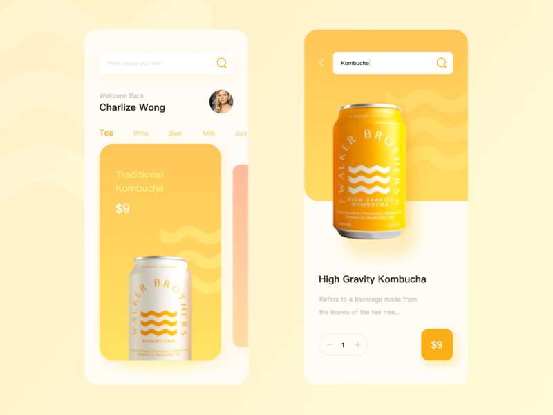Sell drinks app ui branding