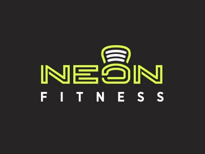 Neon Logo Dribbble vibrant virtual brand messaging logo personal trainer identity design branding design gym logo fitness branding fitness logo personal fitness