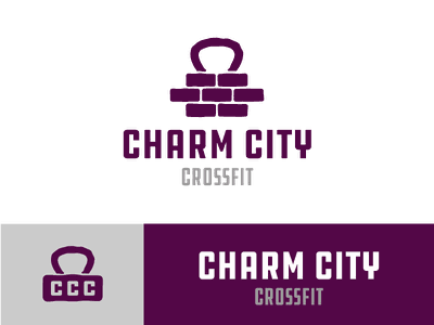 Charm City Crossfit Logo Concept identity design sports design gym identity fitness identity crossfit identity gym branding crossfit branding fitness branding gym logo fitness logo crossfit logo