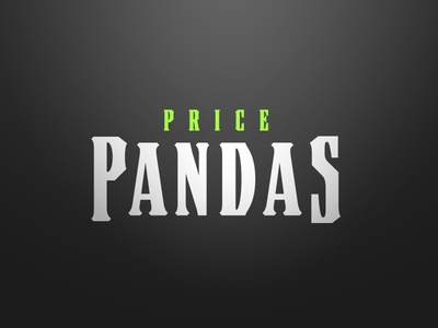 Price Pandas Sports Logo Word Mark