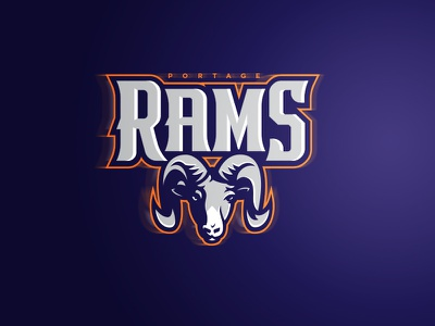 Rams Sports Brand & Identity Redesign horn logo sports logos school sports logo school sports logo ram identity design ram identity design rams logo sports brand team logo sports logo sports identity school logo sports branding sports design