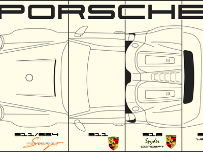 Porsche Collage Vectoral