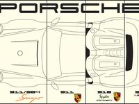 Porsche Collage Vectoral