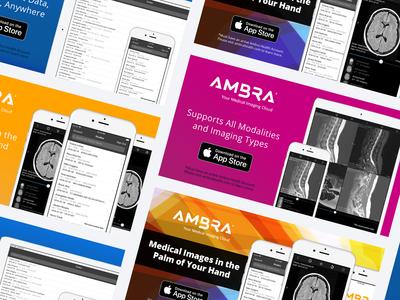 Ambra App Launch Promo Graphics