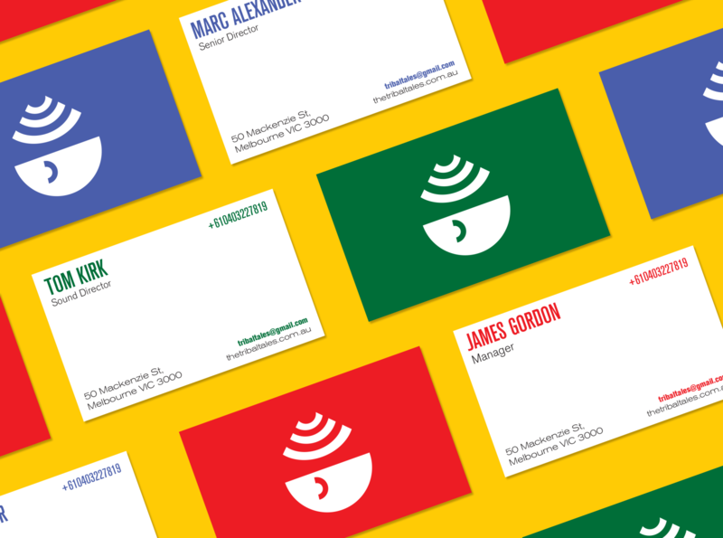 Tribal Tales Business Card businesscard illustration flat design