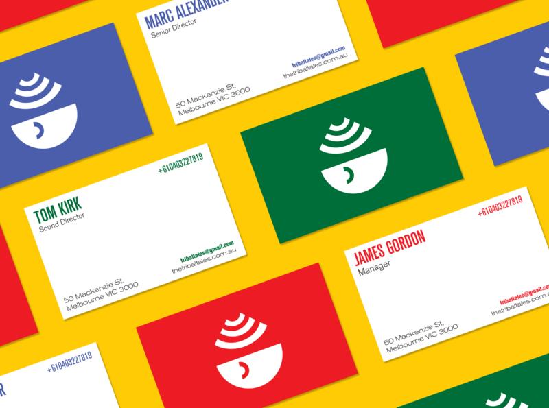 Tribal Tales Business Card businesscard illustration flat design