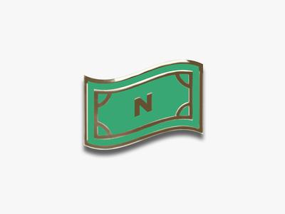 Enamel Pin dollar bill lapel pin enamel pin swag green icon