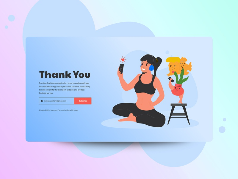 Thank You Page - Bapple (Meme Edition) fun desktop concept illustration design page you