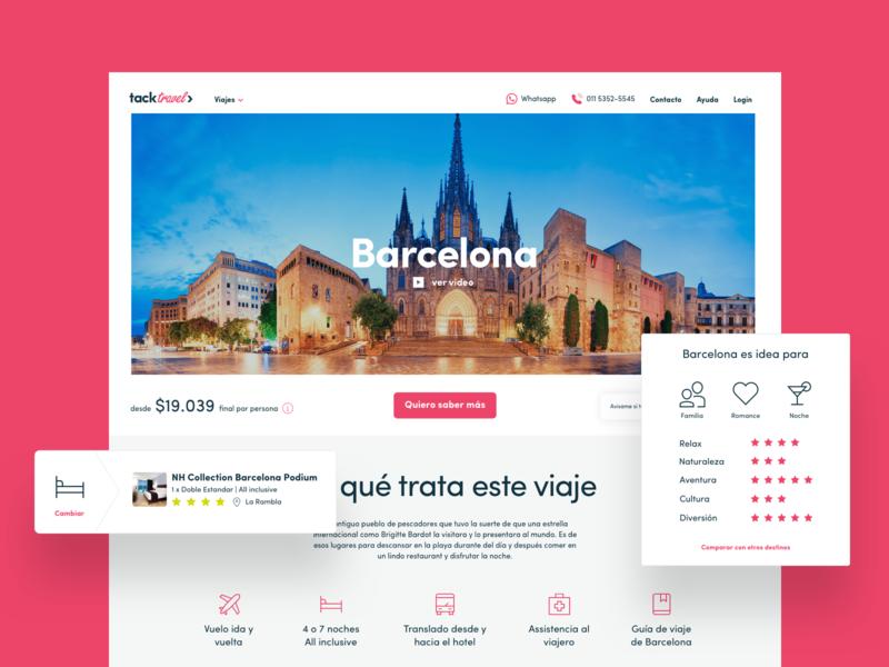 Destination Page travel agency turism experience rating flight hotel barcelona destination trip travel