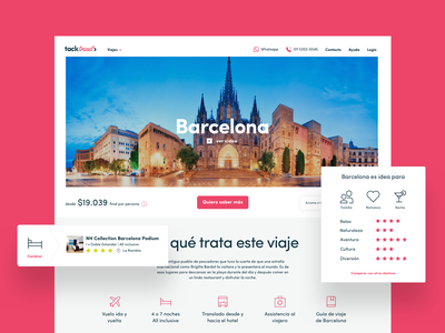 Destination Page travel agency turism experience rating flight hotel barcelona destination trip travel