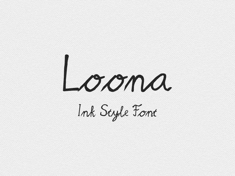 Loona Script poster paint lettering letter latin ink handwritten handwriting hand font english drawn creative collection character calligraphy calligraphic black alphabet abc