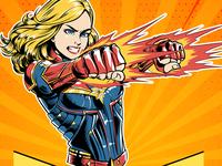Captain Marvel-Funpen- Colored