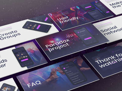Powerpoint Pitch Deck template for Paradox Project