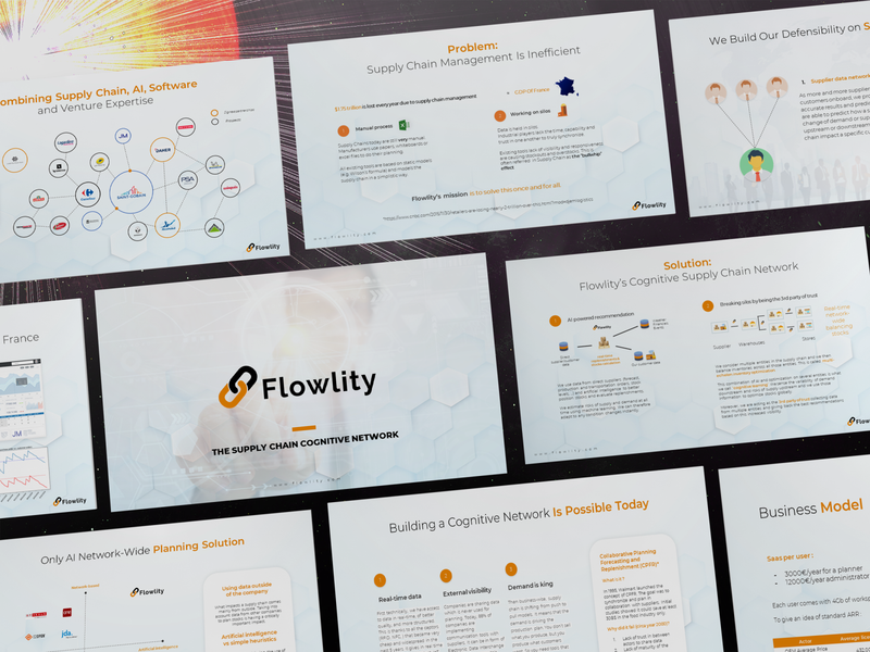 PowerPoint Pitch Deck for Flowlity