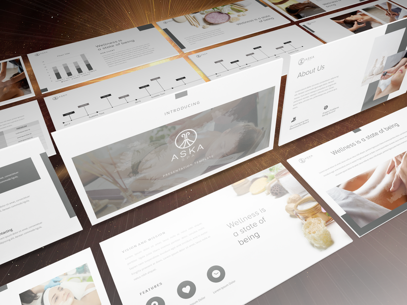 Powerpoint Template for ASKA Spa