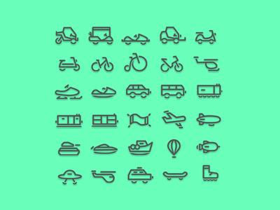 30 Transportation Linecon Set
