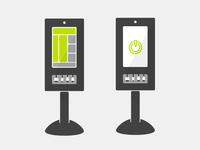 Kiosk Product vector for web