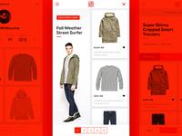 Apparel E-commerce Mobile Preview