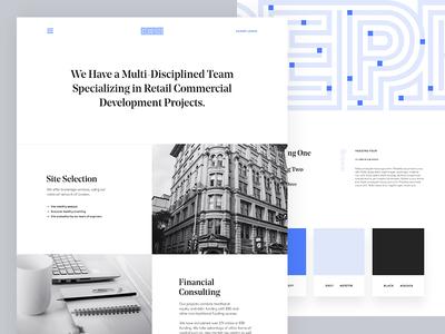 Commercial Retail Real Estate Casestudy case study web site behance ui ux reph commercial retial real estate web design branding interaction design