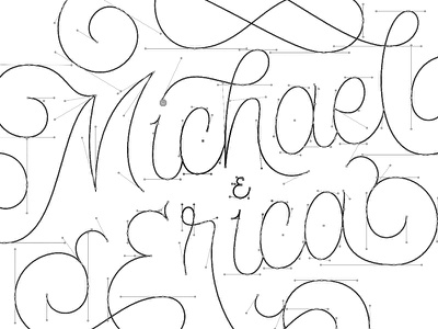 Wedding Lettering Bezier Handles handles bezier vector hand lettering lettering itinerary wedding