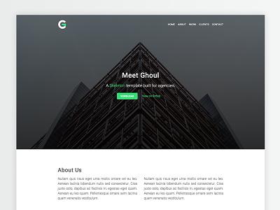Ghoul boilerplate web design css html template skeleton ghoul