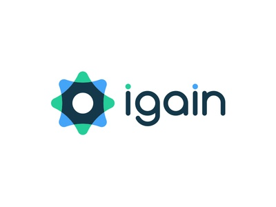 iGain Logo Concept brand branding logo design gear symbol icon concept logo igain