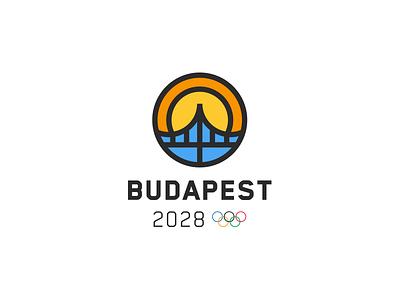 Budapest Olympic Bid Logo Concept logo design bridge icon symbol logo budapest olympics