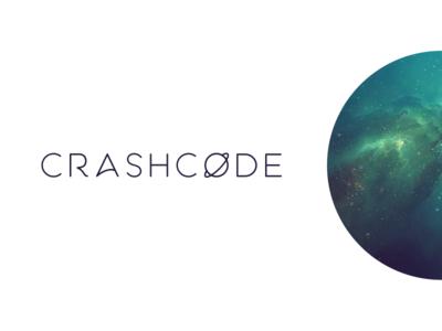 Crashcode Wordmark Concept planet space typeface wordmark logo design logo code crash crashcode