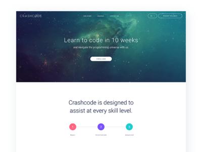 Crashcode Website Mockup user interface user experience ux ui uiux layout web design design website code crash crashcode