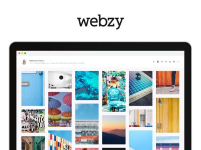 Webzy —Coming Soon user interface user experience ux ui portfolio webzy website web design