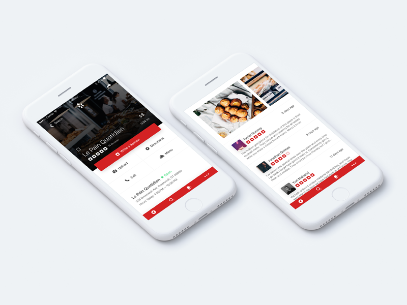 Yelp Redesign sketch rating restaurant concept mockup app iphone mobile redesign yelp