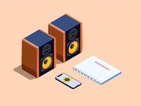 Loudspeaker box / Music