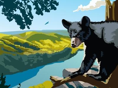 Appalachian Trail Travel Poster