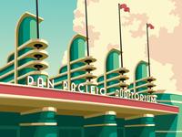 Pan Pacific Auditorium Poster Design