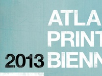 2013 Atlanta Print Biennial Poster close up
