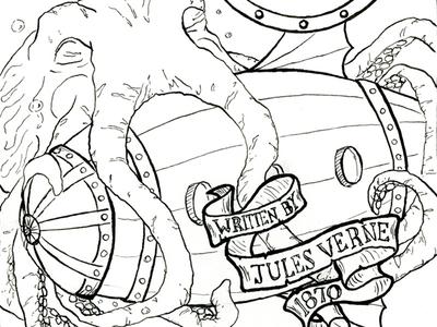 Twenty Thousand Leagues Cover Illustration