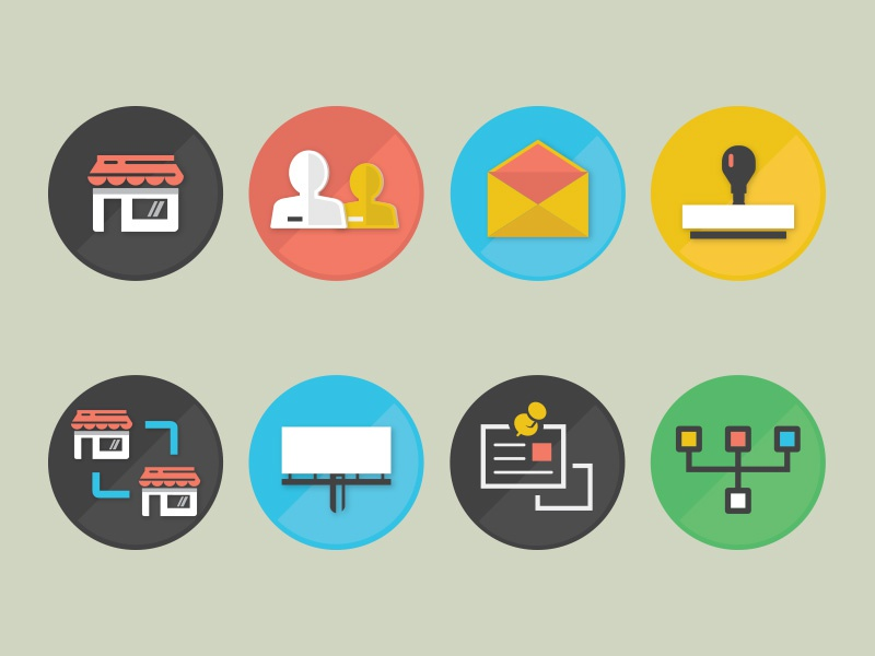 Brazzlebox Icons icon icons vector illustration illustrator new york atlanta austin business home profile endorsement