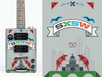 SXSW Bohemian Guitar Wrap Front