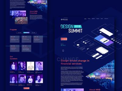 Design Summit Landing page