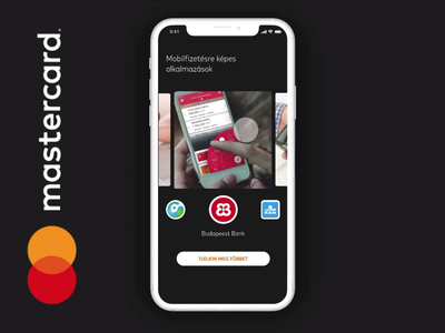 Mastercard Landing Redesign Concept on Mob. - 2 studio finance app bank app mastercard swiping prototype invision motion design landing page webdesign ui design