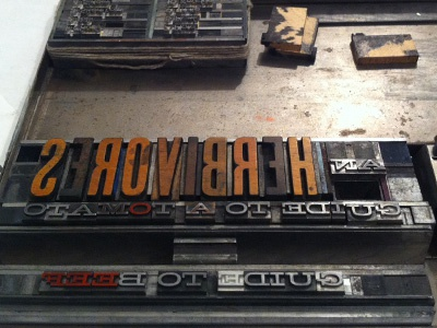 Prepping for the Press typography hellenic wide letterpress