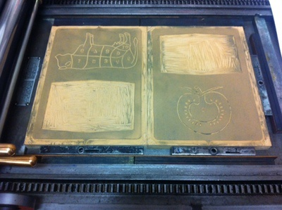 Linoblocks on the Press letterpress beef tomato