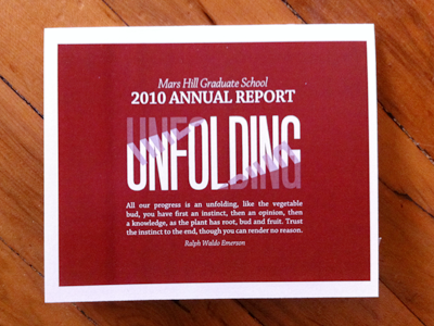 MHGS Annual Report - Unfolding Cover red