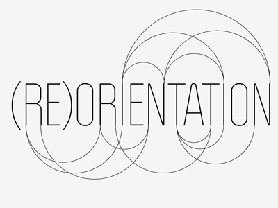 (RE)ORIENTATION politica type logo