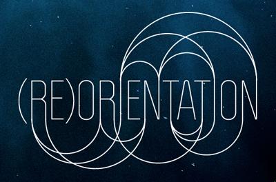 (RE)ORIENTATION politica logo logotype