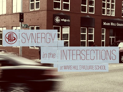 Synergy At The Intersection Of MHGS postcard politica print