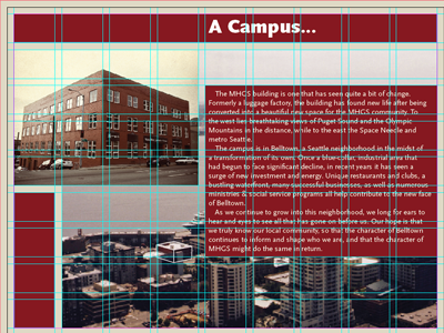 Gridded grid scala sans brochure indesign