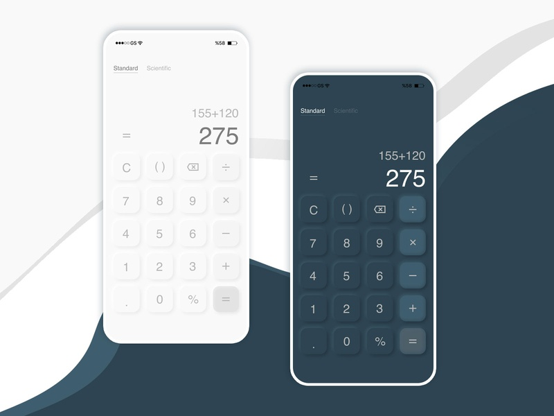 Daily UI 004 Calculator dailyui dark theme dark ui calculator anamorphic dark mode ui dailyuichallenge mobile minimal flat figma design app